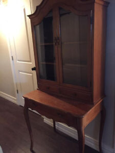 Antique Hutch, Desk, and 2 Coffee Tables