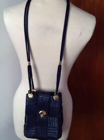 Lovely navy blue Debenhams special occasion shoulder bag