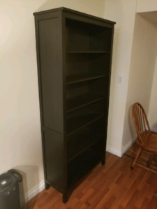 HEMNES Bookcase, Black-brown ikea