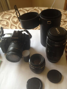 Canon EOS 630 35 MM (Film) Camera and Lenses