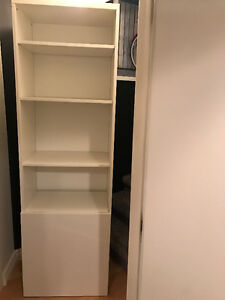 "BESTA Bookshelf Unit, white, W:23"", H:91, D:15"""