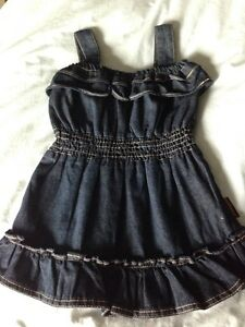 Girls Jean dress size 2