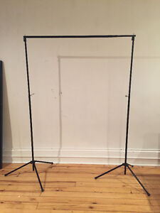 New Backdrop Stand and Grey Cloth Backdrop