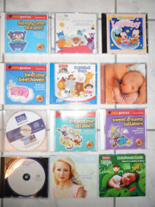 COLLECTION OF 12 BABY LULLABY MUSIC CD'S