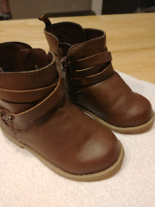 Brown Ankle Boots Toddler Size 5