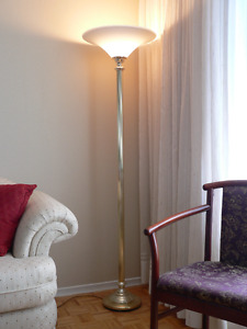 Ornamental Floor Torch Lamp with Stylized Stand