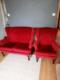 Sofa Set - 1x 2 Seater 1x Armchair