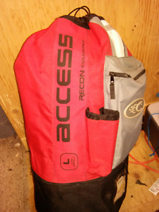 (Negotiable) Cabrinha Access 12M + Dakine Pyro harness with hook