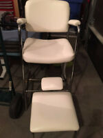 Pedicure chair and stool set