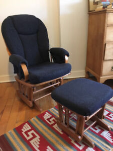Glider chair and footrest