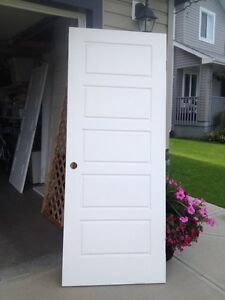 "Beautiful 5-panel  doors. One 32""x80"" and another 36""X 80"""