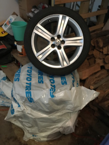 Toyota mags and tires - 215/45R17