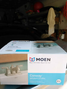 MOEN BRUSHED NICKEL WASHROOM FAUCETS-CONWAY