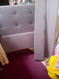 Fabric material single bed frame in great condition