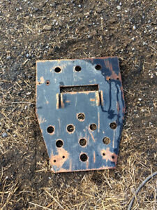 atv snowplow skidplate mount yamaha kodiak