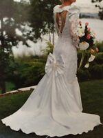 Gorgeous Mermaid Wedding Gown, Sz 6