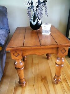 Two Wooden End Tables--Reduced