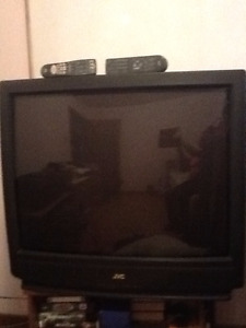 "JVC/CRT 36"" COLORED TV, IN GOOD WORKING CONDITION"