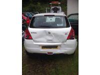 Suzuki swift 2010 accident damage to rear