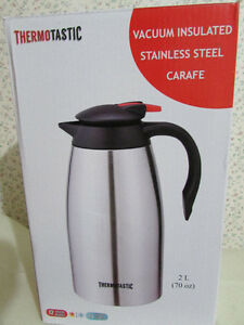 THERMOTASTIC Vacuum insulated Stainless steel Carafe London Ontario image 1