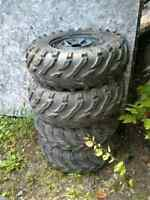 4 tires and rims for yamaha 4 x 110 bolt pattern