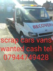 BOUGHT for CASH SCRAP CARS VANS TELEPHONE 07944749428