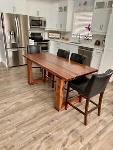 Brand New, Rustic, Kitchen Table, Coffee Table and 2 End tables.