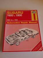 Haynes 681 Repair Manual Subaru 1600 & 1800 1980-1988