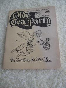 "OLD VINTAGE CANADIAN BOOKLET..""OLDE TEA PARTY..ISSUE I"""