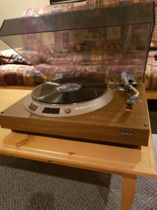 Denon Turntable C/W dustcover