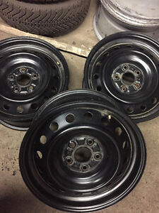 New: Set of 16 inch, by 114 steel rims, 5 bolt pattern