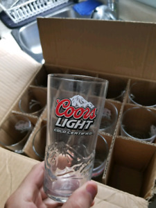 12 Coors Light glasses