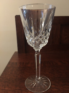 Waterfor crystal tall wine glasses, Lismore pattern