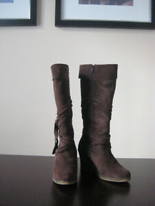 ALDO Brown Suede Tall Boots, size 8