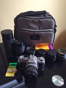 Canon AE-1 Film camera with lens