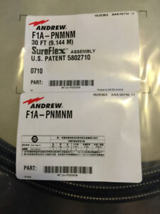 NEW OLD STOCK ANDREW CABLE JUMPER 30'   F1 PNMNM,  CAN BE USED F