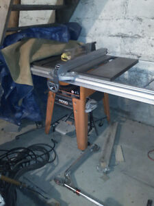 Large rigid table saw