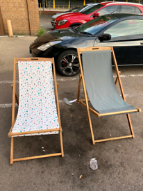 Garden Outdoor loungers £15 each or both £25. Reduced. Real Bargains
