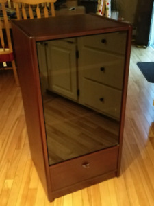 Glass fronted media cabinet