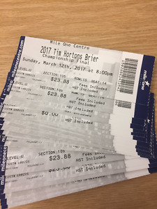 Tim Horton's Brier 2017 Tickets - 1 seat - All Draws 1-17