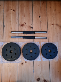 Dumbbell weights set. Brand new, never been used