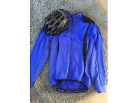 Specialized helmet and altura cycling jacket