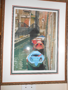 photograph of boats in Venice