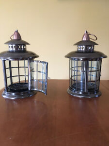 Brushed metal Lanterns