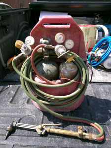 oxygen & acetylene tanks  And torches