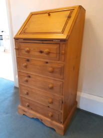 Slim hall chest-of-drawers and desk