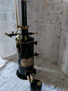 Steam engine boiler.