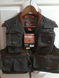 Simms Guide Vest Greystone sz Small