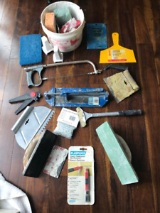 Ceramic Tile Cutter,  Nipper, Saw, Spreaders, and Complete Kit