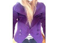 Topshop Coat in Purple